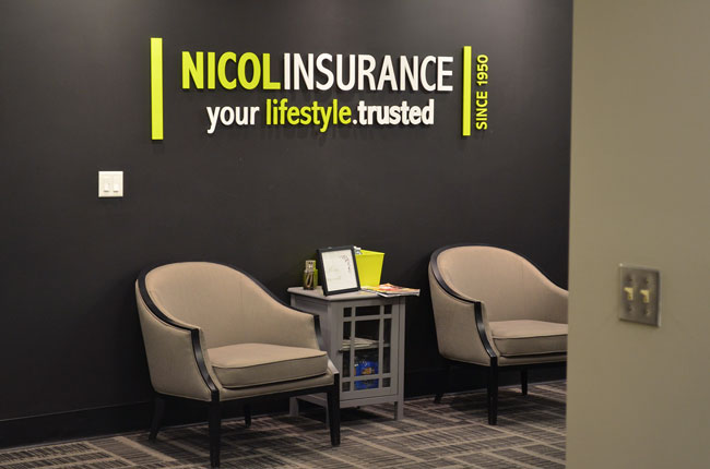 Nicol Insurance Lobby in Owen Sound